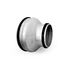 Pāreja ar blīvēm Alnor RPCL-200-125, ⌀ 125-200 mm