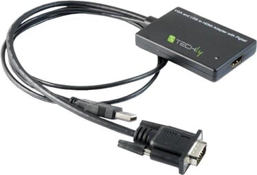 Techly 301665 HDMI to SVGA with USB Audio Converter