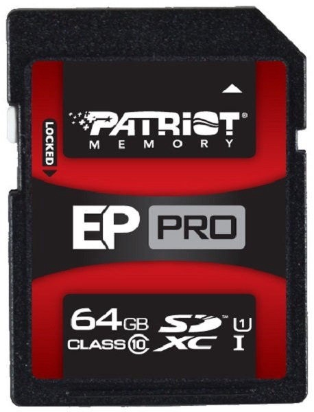 Patriot 64GB EP Pro Series SDXC UHS-I Class 10