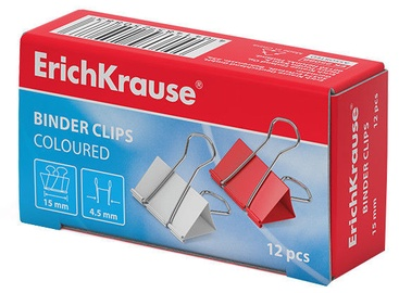 ErichKrause Binder Clips Coloured 15mm 12pcs