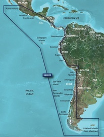 Garmin BlueChart VSA002R South America West Coast