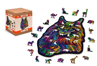 3D пазл Wooden City Rainbow wild cat, 274 шт.