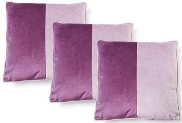 Spilvens Mondex Olivia Velvet, violeta, 3 gab., 450x450 mm