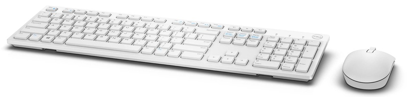 DELL KM636 Wireless Keyboard White With Mouse ENG