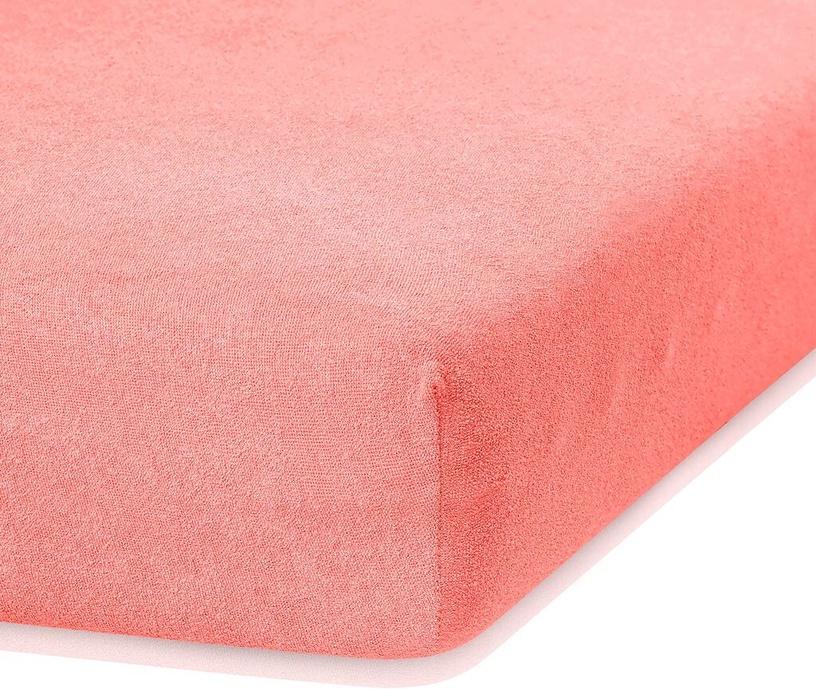 Palags AmeliaHome Ruby, oranža/rozā, 120x200 cm, ar gumiju