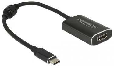 Delock Adapter USB-C x2 / HDMI Black