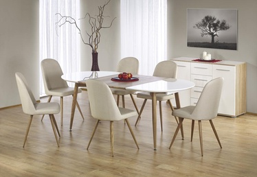 Halmar Dining Table Edward White Honey Oak