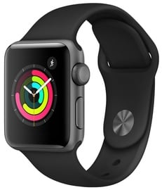 Išmanus laikrodis Apple Watch Series 3 38mm GPS Aluminum Space Gray Black