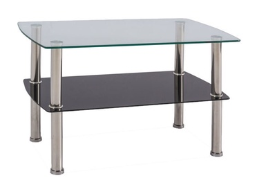 Kafijas galdiņš Signal Meble Modern Irene Silver, 750x450x450 mm
