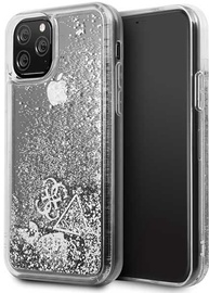 Guess Glitter Hearts Back Case For Apple iPhone 11 Pro Silver