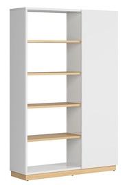 Black Red White Denton Open Bookshelf 120cm Oak/White