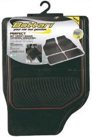 Bottari Perfect Universal Rubber Mats Black/Red 4pcs