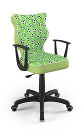 Детский стул Entelo Norm ST29, черный/зеленый, 400x370x1010 мм