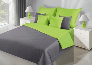 Gultas veļas komplekts DecoKing Nova, zaļa/pelēka, 135x200/80x80 cm