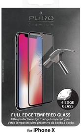 Puro Premium Full Edge Screen Protector For Apple iPhone X Black