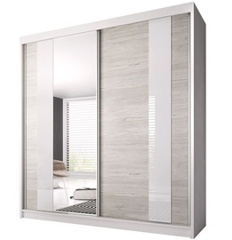 Idzczak Meble Wardrobe Multi 32 223cm White/Sonoma Oak