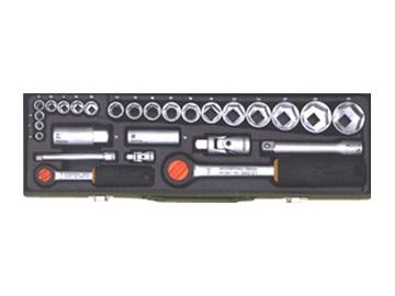 """Sukimo įrankių rinkinys Proxxon 23020, 6-32 mm, 1/4"""" + 1/2"""", 27 vnt."""