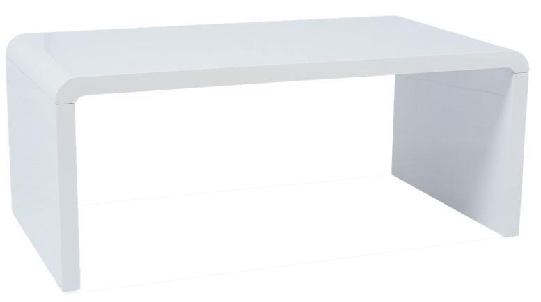 Kafijas galdiņš Signal Meble Modern Mio White, 1000x600x450 mm