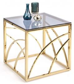 Kafijas galdiņš Halmar Universe Square Gold, 550x550x550 mm