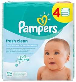 Pampers Fresh Clean Wipes 4x64pcs