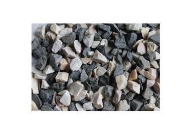 Dekoratīvais akmens, 2 - 5, balta/melna, 1.5 kg