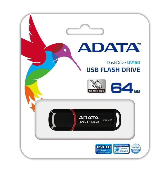 Adata 64GB DashDrive UV150 USB 3.0 Black