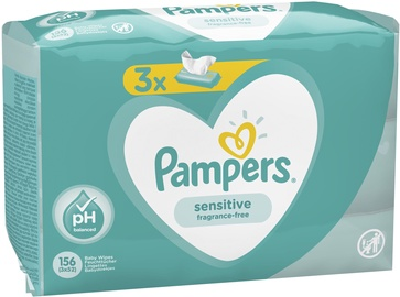 Pampers Baby Sensitive Wipes 3x52pcs