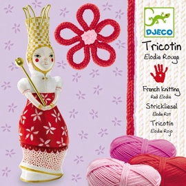Djeco Wool French Knitting Red Elodie