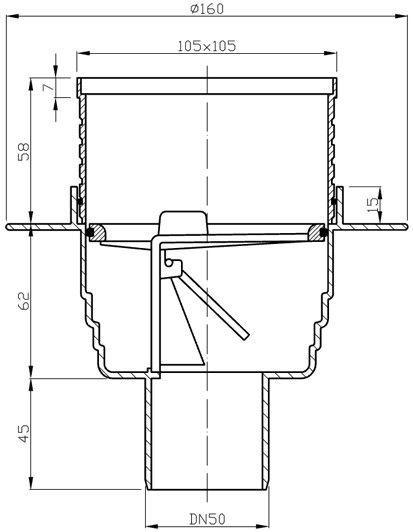 Ani Plast Vertical Trap 105x105mm