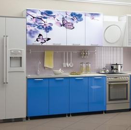 Virtuves komplekts MN Butterfly White/Blue, 1.6 m