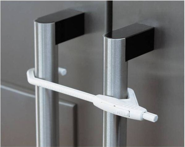 BabyDan Double Door Lock White