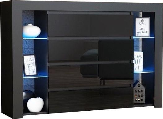 Pro Meble Milano 4SZ With Light Black