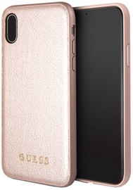 Guess Iridescent Hard Back Case For Apple iPhone X Pink