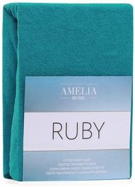 Palags AmeliaHome Ruby, zila, 180x200 cm, ar gumiju