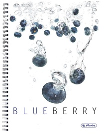 Herlitz Spiral Pad A4 Fresh Fruit Blueberry 11291689