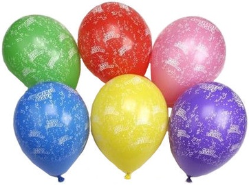 Pap Star Happy Birthday Balloons 25cm 10pcs