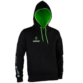 GamersWear Sprout Hoodie w/ Logo L Black/Green