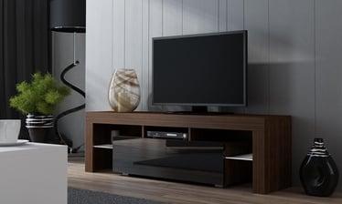 TV-laud Pro Meble Milano 130 Walnut/Black, 1300x350x450 mm