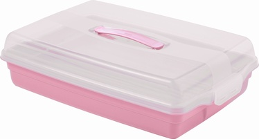 Curver Cake Transportation Box Rectangle Pink
