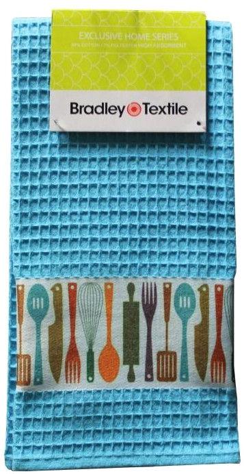 Bradley Kitchen Towel 40x60cm Wafer Blue
