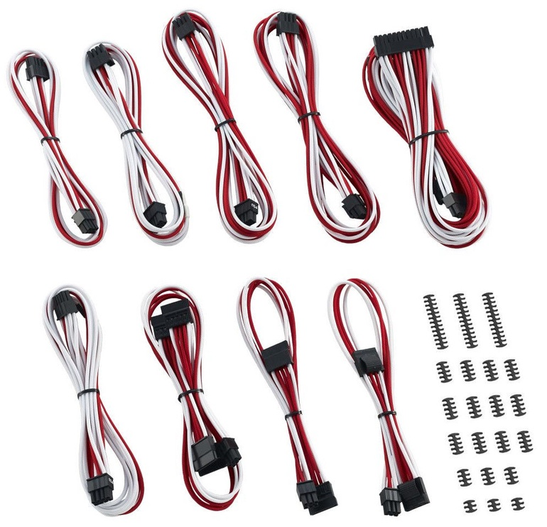 CableMod RT-Series ModMesh Classic Cable Kit for ASUS/ Seasonic White/Red