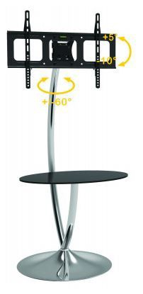 Techly Floor Stand with Shelf 32 - 70''