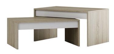 Szynaka Meble Kometa Two Piece Coffee Table Sonoma Oak