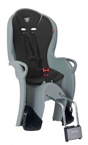 Детское кресло для велосипеда Hamax Kiss 551046, черный/серый, задняя