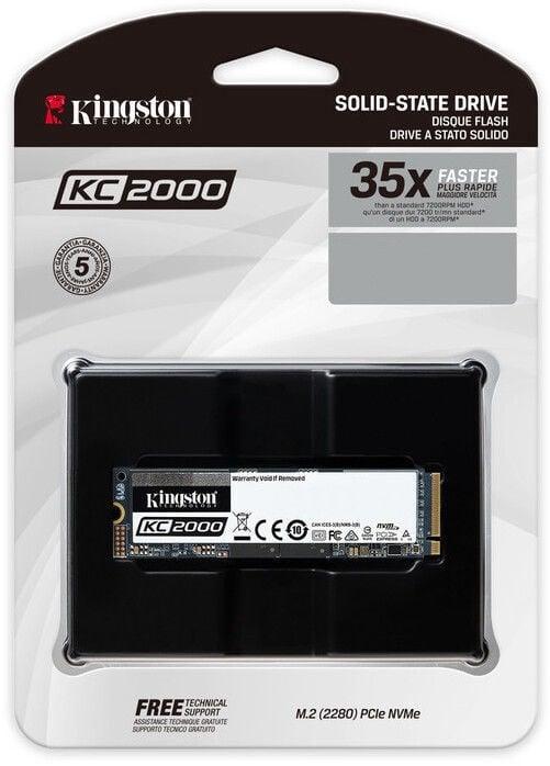 Kingston KC2000 NVMe PCIe SSD 500GB