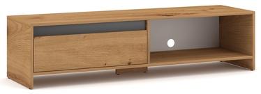 TV galds Vivaldi Meble Line, pelēka/ozola, 1400x400x350 mm