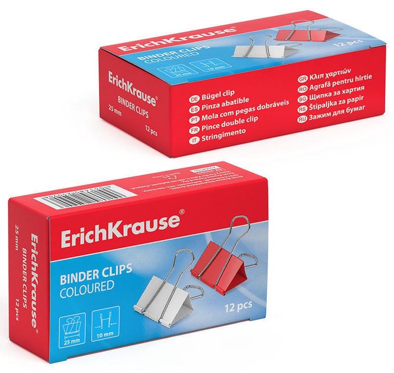 ErichKrause Binder Clips Coloured 25mm 12pcs