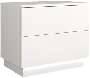 Naktinis staliukas Top E Shop S2 Sela, baltas, 55x35x47 cm