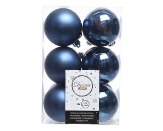 Eglutės žaisliukas Decoris 21974 Blue, 60 mm, 12 vnt.