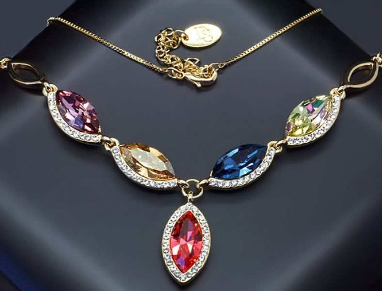 Diamond Sky Pendant Colorful Assortment With Swarovski Crystals